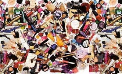beauty products pile