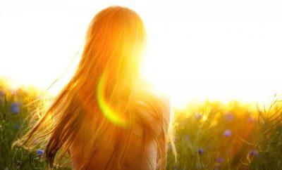 single woman enjoying the sunset