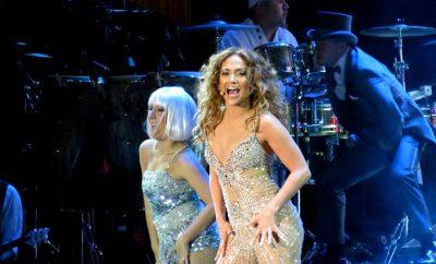 Jennifer Lopez dancing on stage