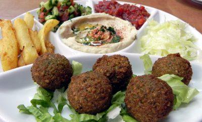 Israeli food falafel hummus