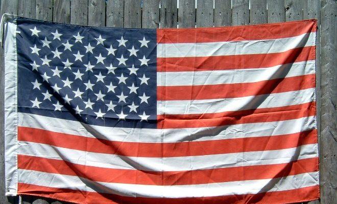Memorial day American flag