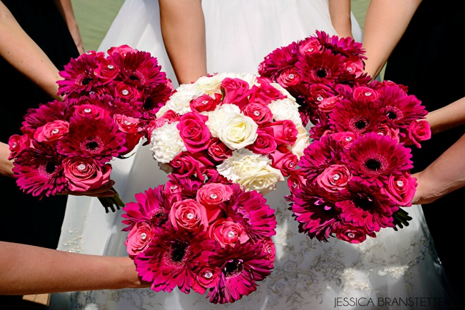 bridesmaid flowers never the bride