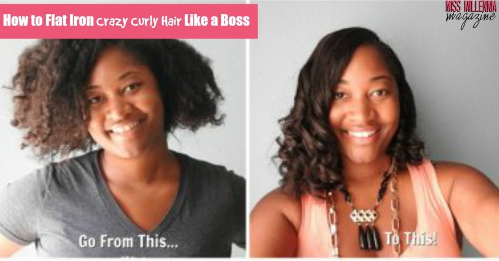 How to Flat Iron Crazy Curly Hair Like a Boss_FB