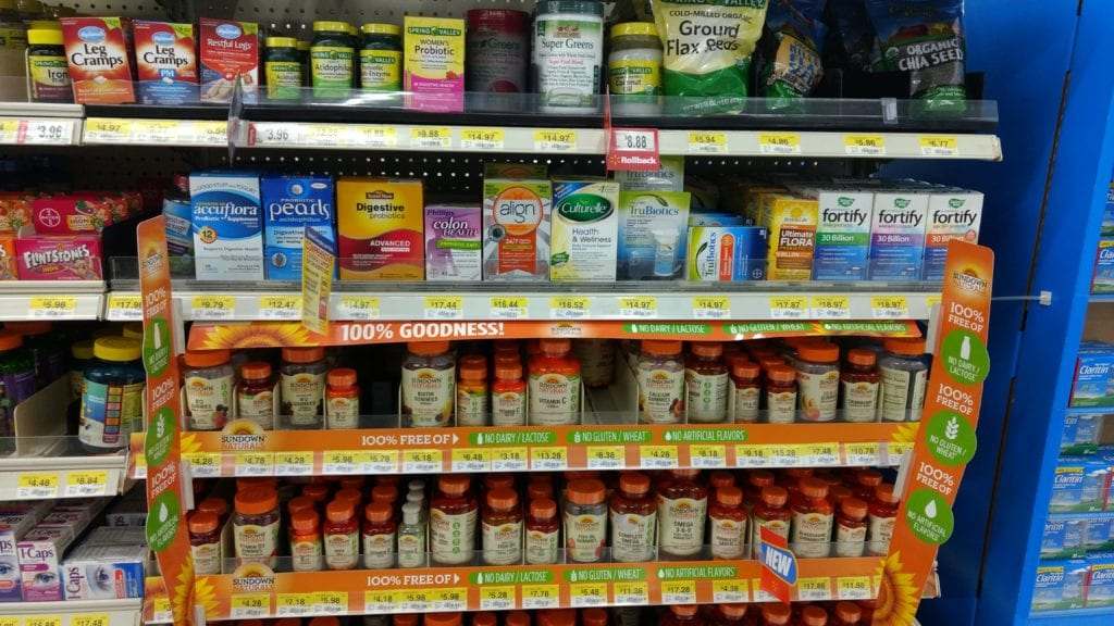 selection of daily probiotics