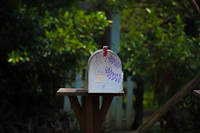 mailbox for pen pals to help with learning a second language