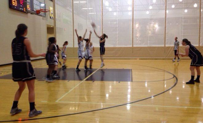 playing basketball, female sports fan
