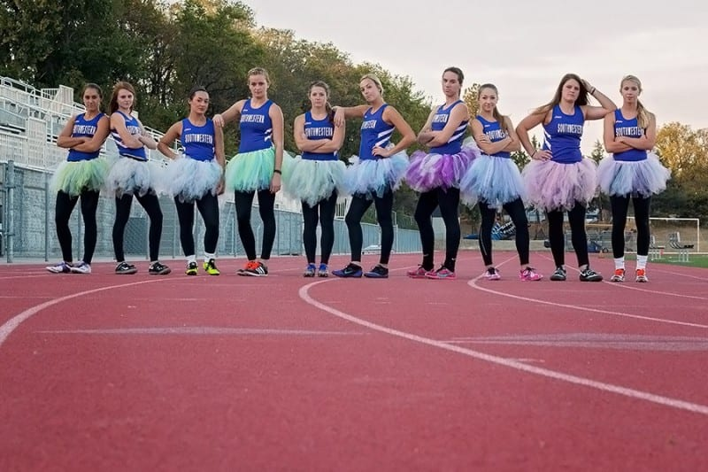 girls wearing track uniforms and tutus combating girl on girl hate