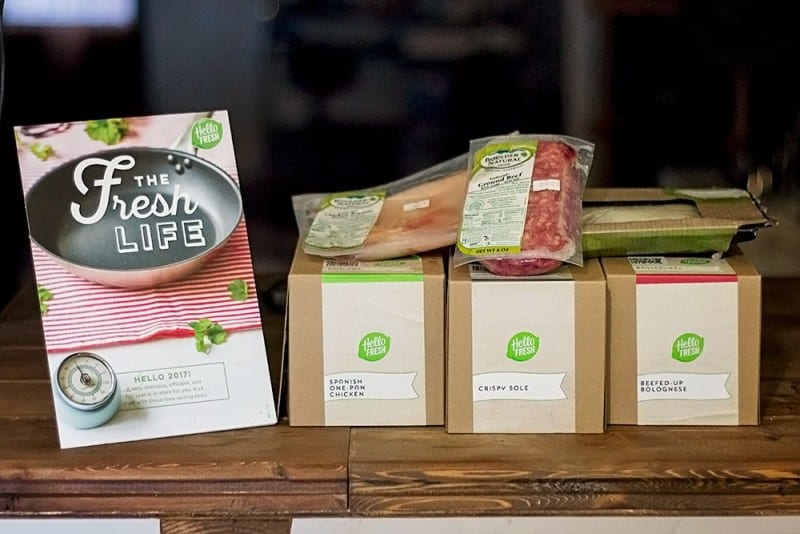 HelloFresh meal boxes sitting on table to help cooking skills