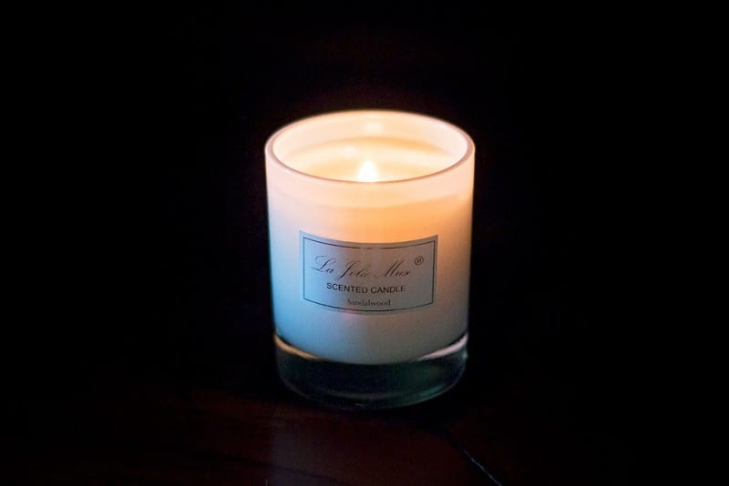 candle burning to stay fresh