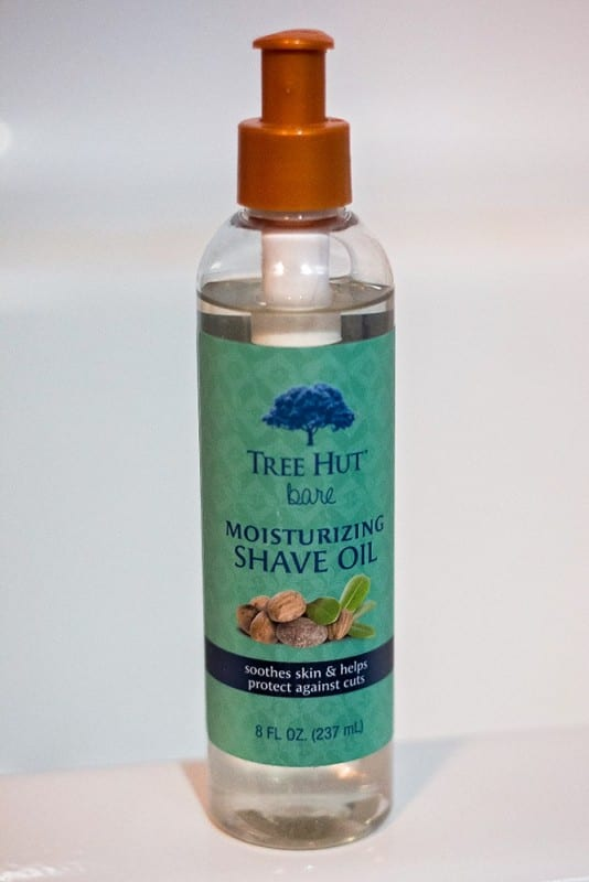 bottle of Tree Hut shave oil used to stay fresh