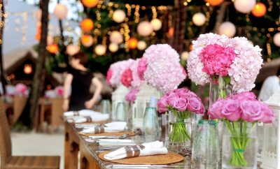 flowers on table used to decorate your wedding